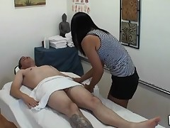 Man gets double pleasure from massage and sex