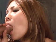 Big melons Asian gets her taut cunt thrashed in hawt group sex